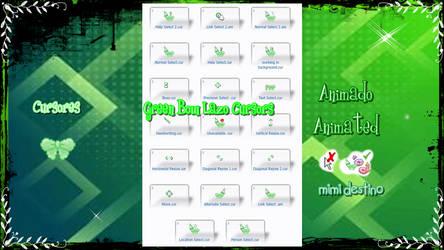 Green Bow Lazo Cursors Cursores Punteros