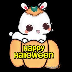 Bunny Says Happy Halloween