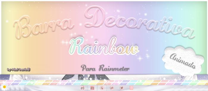 Barra Rainbow Animada By Mimi Destino Rainmeter