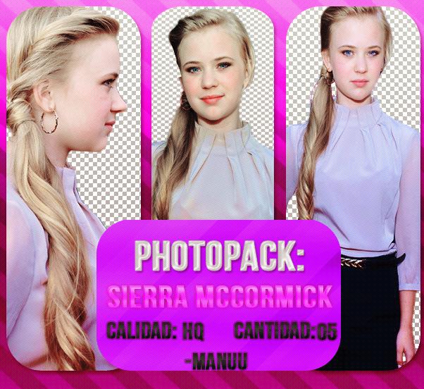 Photopack png 003. Sierra Mccormick by Manuuselena