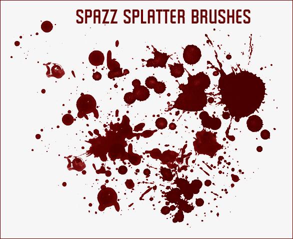 Spazz Splatter Brushes
