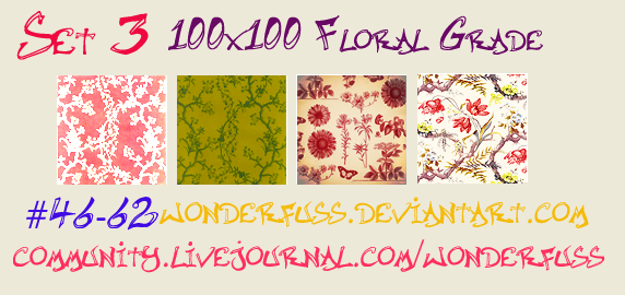 Texture Set 03 Floral Grade by wonderfuss