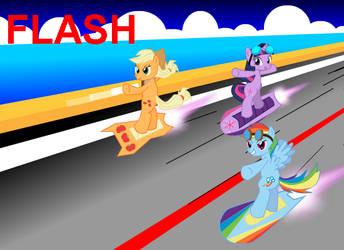 Ponies Free Riders: Team Dash by Dekomaru