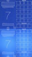 iPhone 4/5 iOS 7 Blueprint Wallpaper UPDATED by jessemunoz