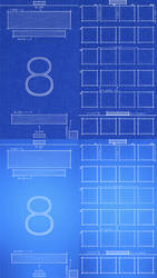 iPhone 5 iOS 8 Blueprint Wallpaper by jessemunoz