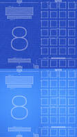 iPhone 6 iOS8 Blueprint Wallpaper