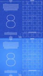 iPhone 6 iOS8 Blueprint Wallpaper by jessemunoz