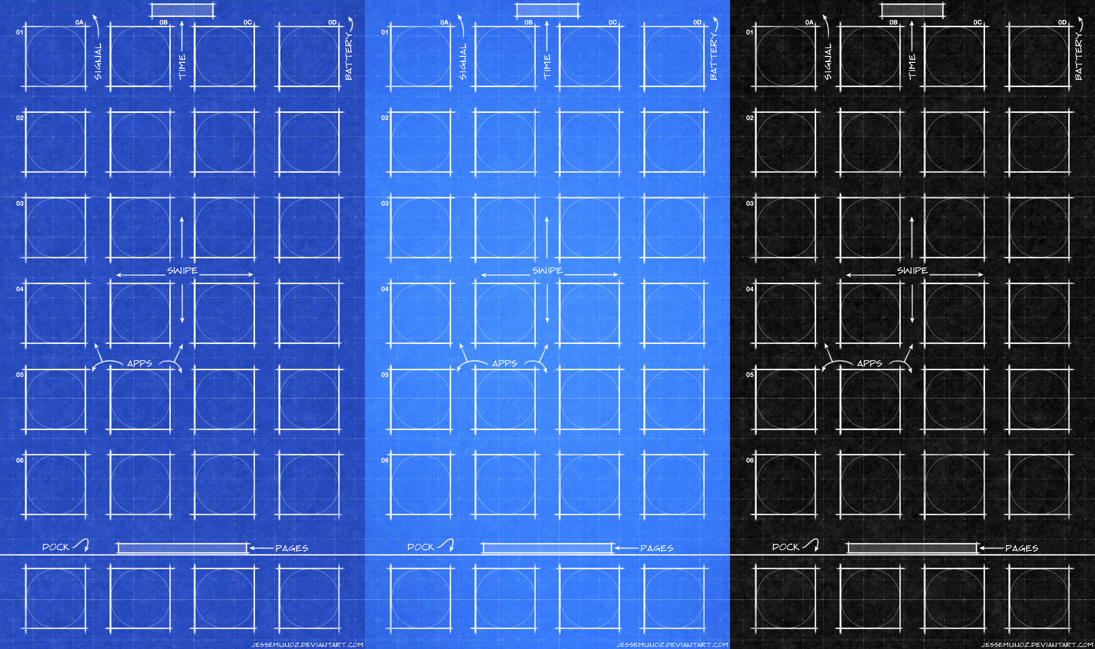 iPhone iOS10 Blueprint Wallpaper by