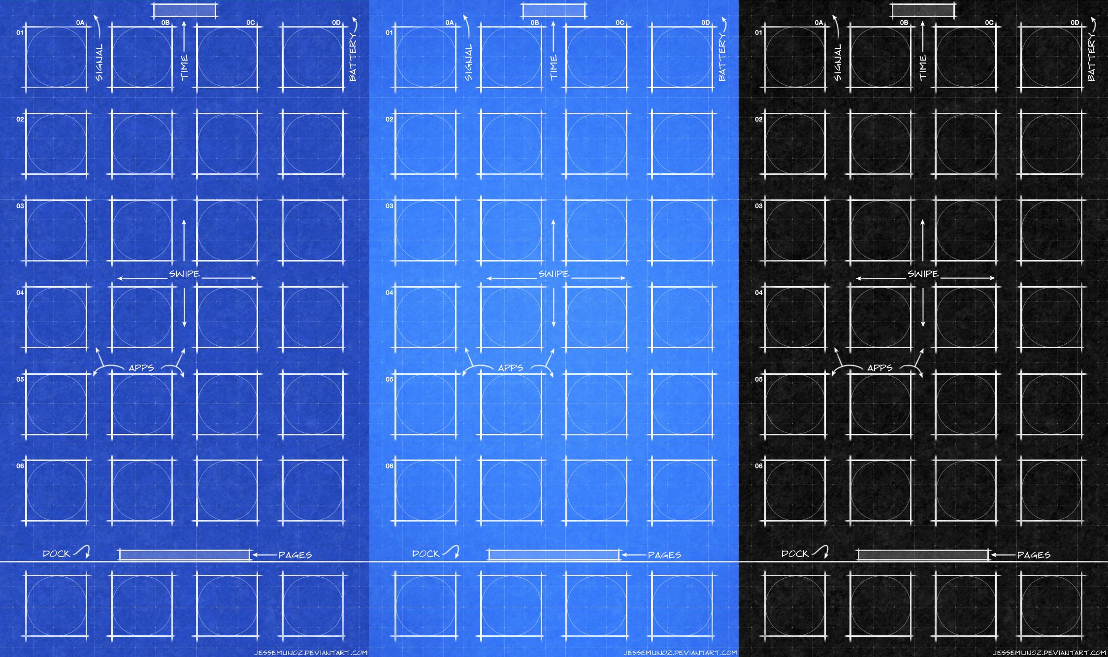 IPhone IOS10 Blueprint Wallpaper By Jessemunoz On DeviantArt