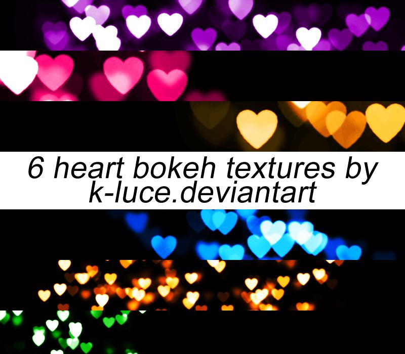 Heart Bokeh Textures by k-luce