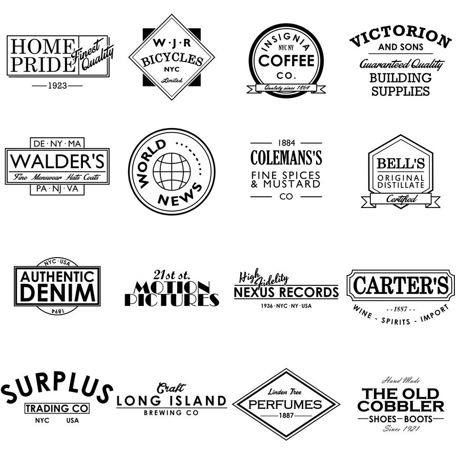 Retro Logos by zephyris