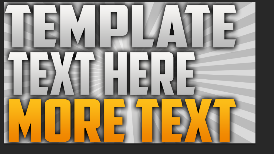 Free Youtube Thumbnail Template #2 by ImAura on DeviantArt