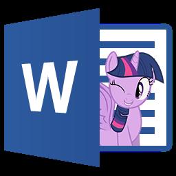 Word 2013 - Twilight Sparkle icon