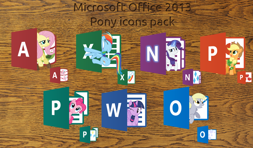 microsoft office 2013 pony icons pack by nyan ptx on deviantart. Black Bedroom Furniture Sets. Home Design Ideas