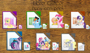 LibreOffice Pony icon pack (Derpy icon added)