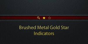 Gold Metal Star Indicators