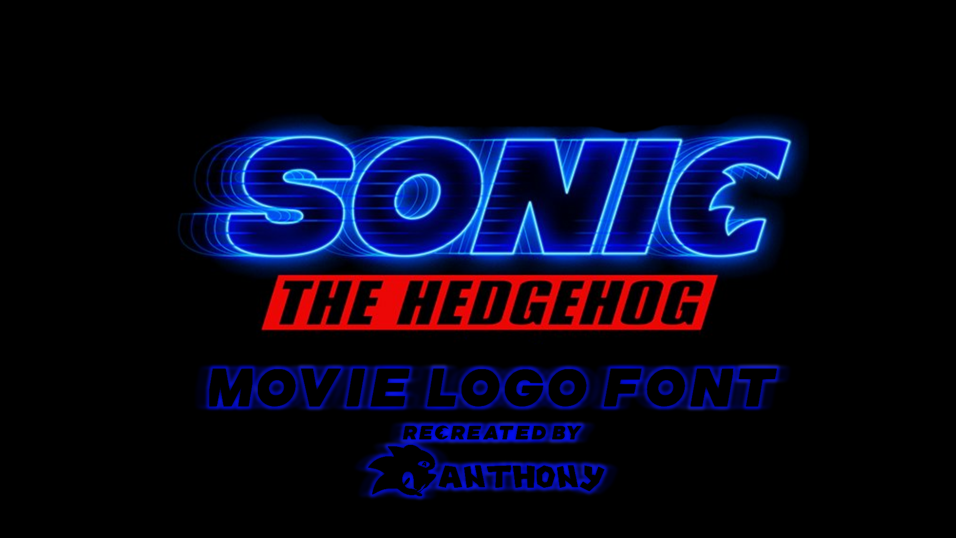 Sonic The Hedgehog Movie Logo Font By Anthonythelogoremake On