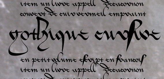 Gothique Cursive by Errance