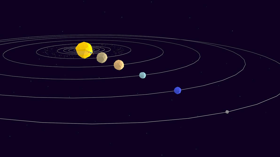 Low Poly Solar System by NoSmokingBandit