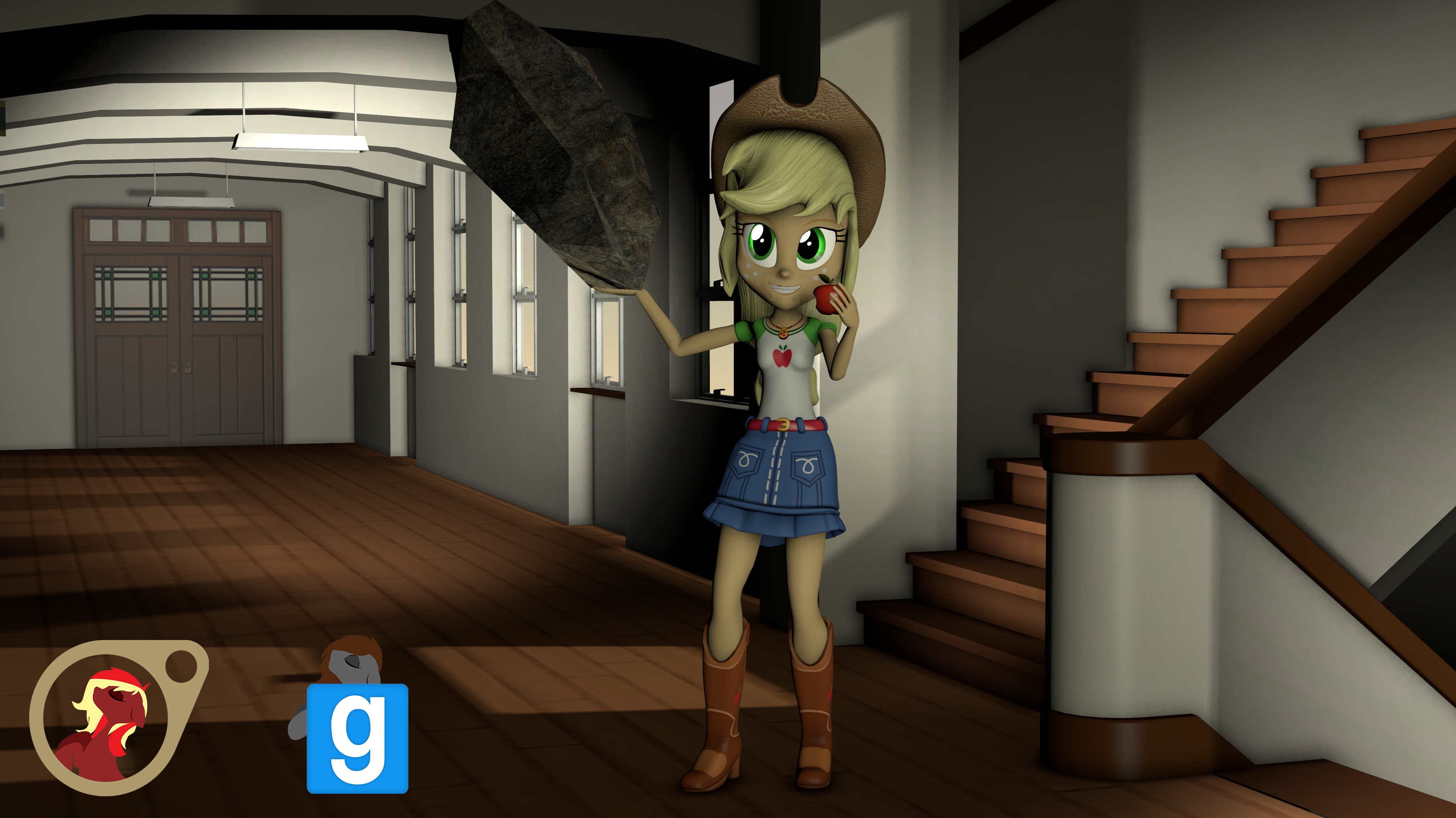 [EqG] Apple Jack from Shorts [SFM] [Gmod] by EmpireOfTime