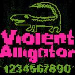 Violent Alligator - font by sampratot
