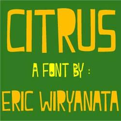 Citrus 7 - the font
