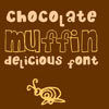 Chocolate Muffin Font 01 by sampratot