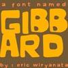 font named GIBBARD by sampratot