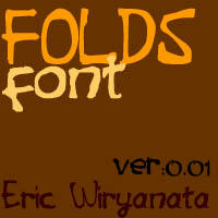 FOLDS the new Font by sampratot