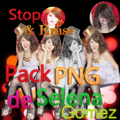 Pack de fotos texto y boton PNG de Selena GomezRAR by DanielArt98