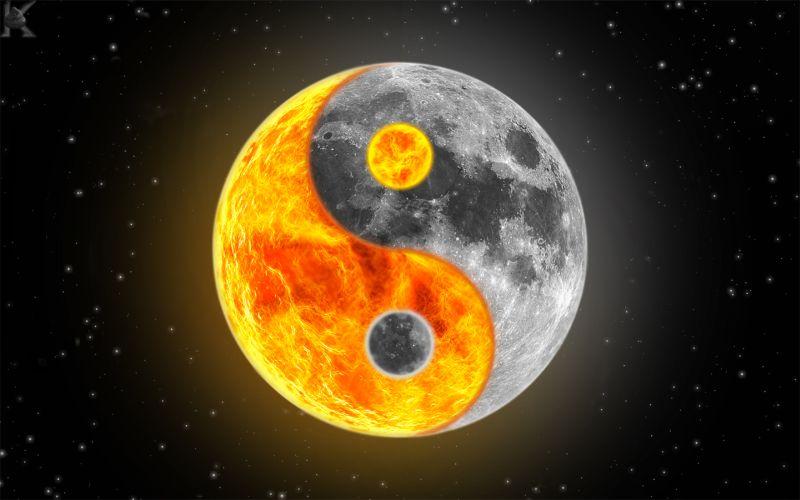 moon and sun - HD1440×900