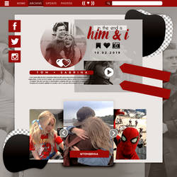 Him and I - Template / Plantilla PSD by ShoshiiAlex