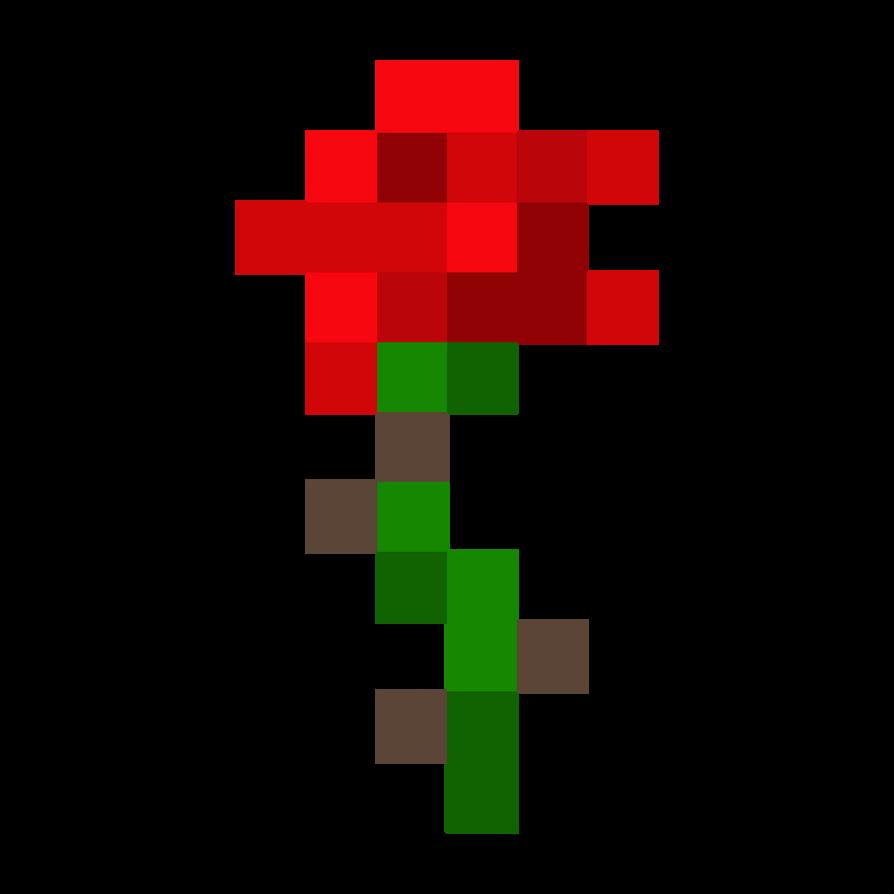 Minecraft Rose By Fluffgar On DeviantArt