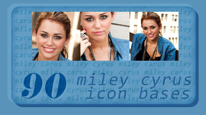 90 icon bases with Miley Cyrus