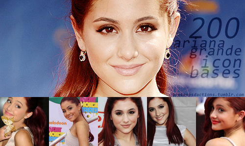 200 icon bases with Ariana Grande