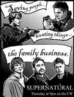Supernatural flyer by kshapiro