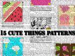 Cute Things Patterns :15: