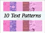 Text Patterns :10: