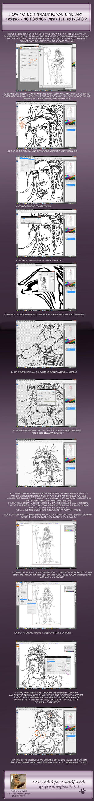 Lineart Editting Tutorial by SicilianValkyrie