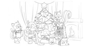 Comm: Christmas Tree (lineart for coloring) by SicilianValkyrie