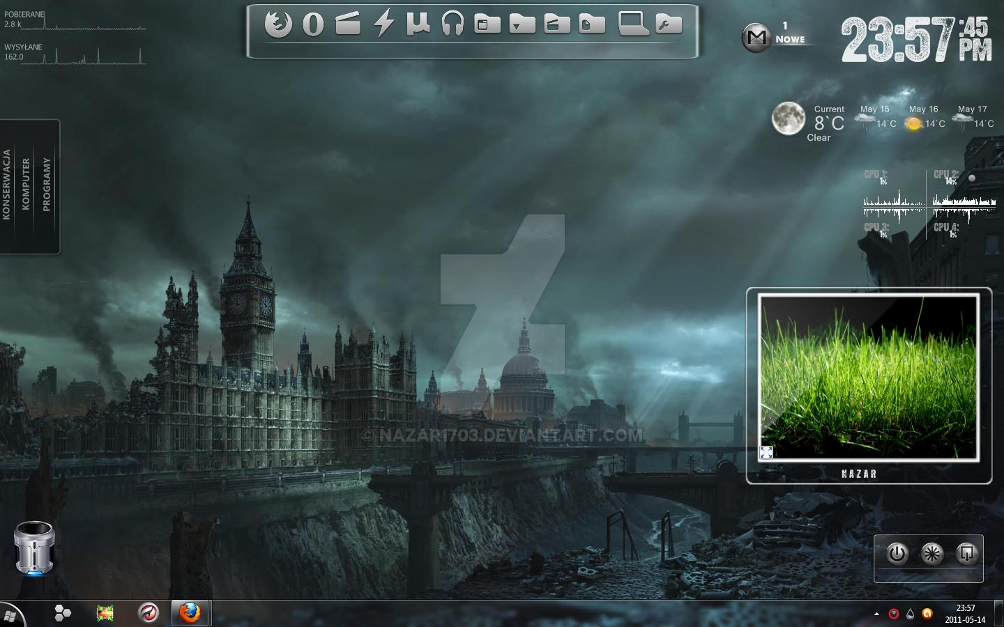 Rainmeter theme nazar by nazar1703 on deviantart for Deviantart rainmeter