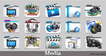 Media Folder icon pack by Meyer69