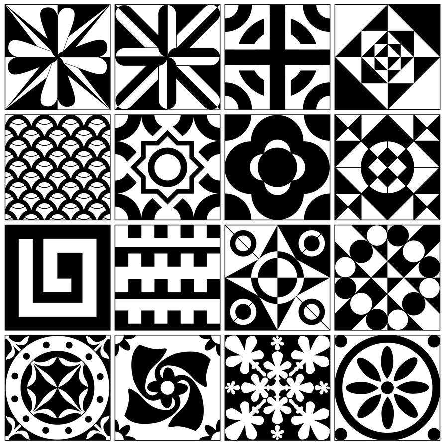 sixteen custom tile designs v2 by emmal27