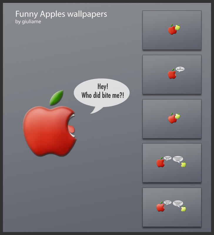 Funny Apples by giuliame