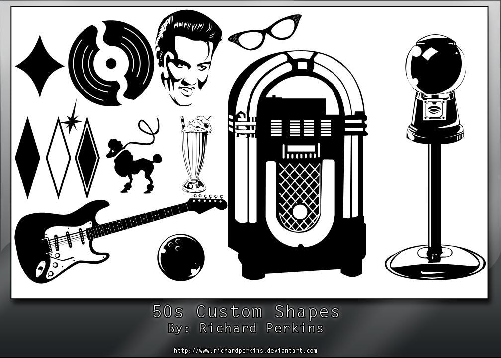 50s Custom Shapes Pack by richardperkins