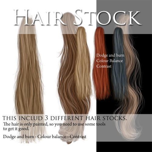 Hair stock PSD files by CindysArt