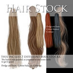 Hair stock PSD files