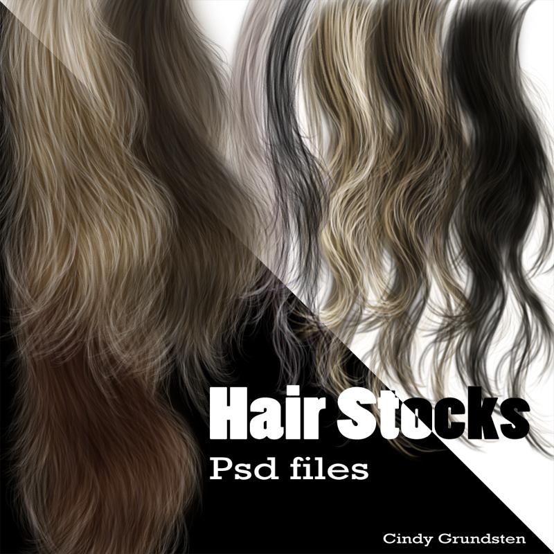 Hair Stocks by CindysArt