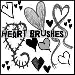 Heart doodle brushes