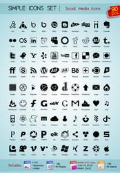 90 Social Media icons